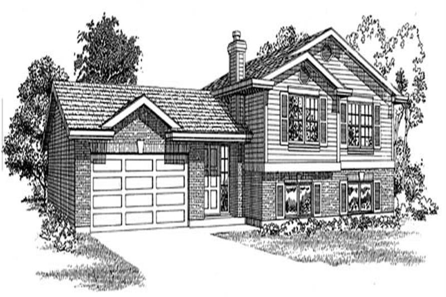 3-Bedroom, 1449 Sq Ft Small House Plans - 167-1169 - Main Exterior