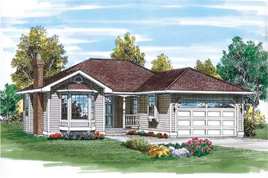 Main image for house plan # 7163