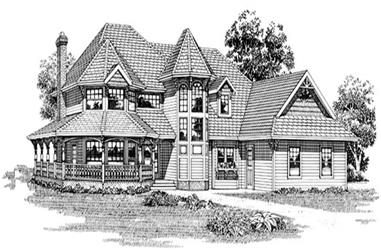4-Bedroom, 2551 Sq Ft Country House Plan - 167-1175 - Front Exterior