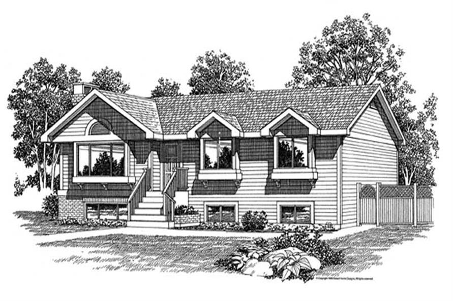3-Bedroom, 1373 Sq Ft Cape Cod Home Plan - 167-1176 - Main Exterior