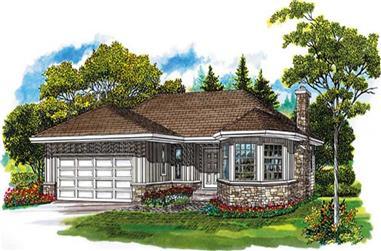3-Bedroom, 1486 Sq Ft Ranch Home Plan - 167-1177 - Main Exterior