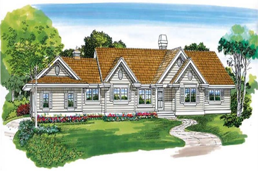 3-Bedroom, 1588 Sq Ft Ranch Home Plan - 167-1179 - Main Exterior