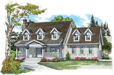 4-Bedroom, 2481 Sq Ft Colonial Home Plan - 167-1180 - Main Exterior