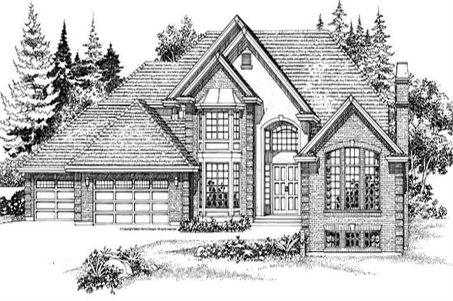 4-Bedroom, 4530 Sq Ft European Home Plan - 167-1182 - Main Exterior