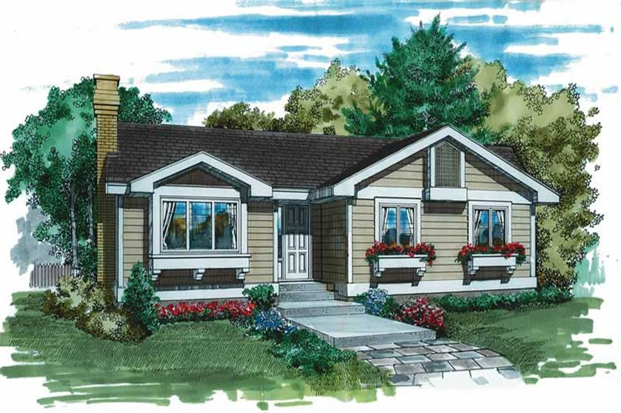 3-Bedroom, 1253 Sq Ft Country House Plan - 167-1185 - Front Exterior