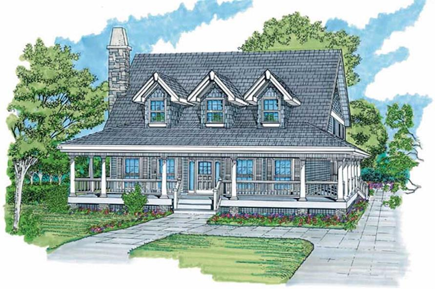 3-Bedroom, 1634 Sq Ft Country Home Plan - 167-1188 - Main Exterior