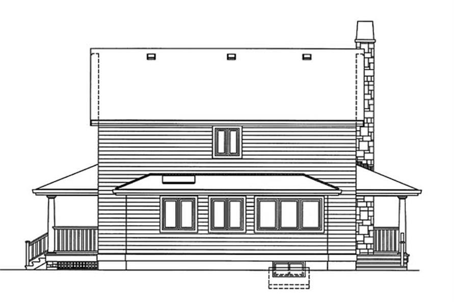 Home Plan Rear Elevation of this 3-Bedroom,1634 Sq Ft Plan -167-1188