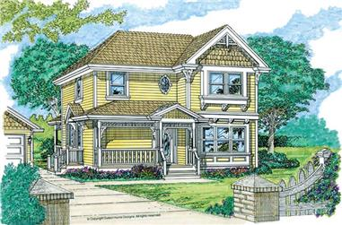 3-Bedroom, 1681 Sq Ft Country Home Plan - 167-1189 - Main Exterior