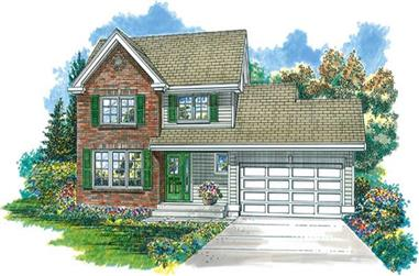 3-Bedroom, 1917 Sq Ft Country Home Plan - 167-1190 - Main Exterior