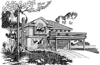 3-Bedroom, 1290 Sq Ft Contemporary House Plan - 167-1193 - Front Exterior