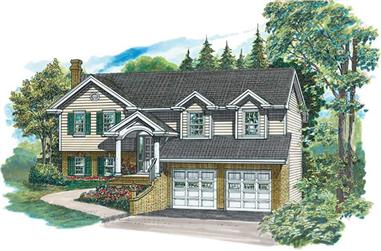 3-Bedroom, 1363 Sq Ft Small House Plans - 167-1196 - Main Exterior