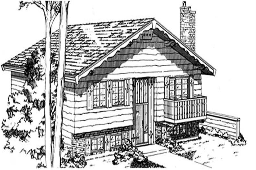 Home Plan Rendering of this 3-Bedroom,1102 Sq Ft Plan -167-1197