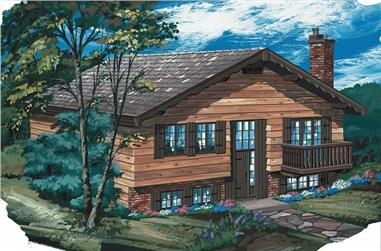 3-Bedroom, 1102 Sq Ft Contemporary House Plan - 167-1197 - Front Exterior