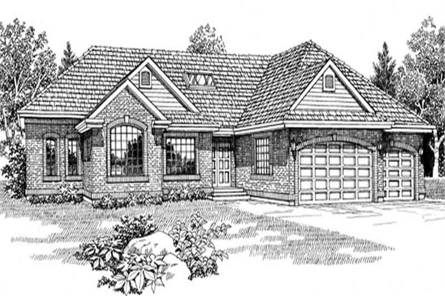 3-Bedroom, 2418 Sq Ft Ranch House Plan - 167-1198 - Front Exterior