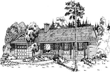 3-Bedroom, 1377 Sq Ft Ranch House Plan - 167-1202 - Front Exterior