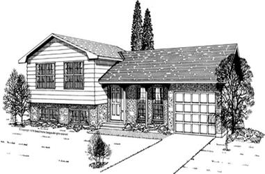 3-Bedroom, 1561 Sq Ft Small House Plans - 167-1204 - Front Exterior