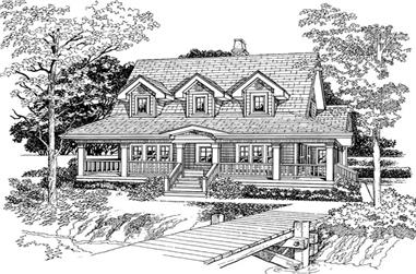 3-Bedroom, 1715 Sq Ft Country Home Plan - 167-1207 - Main Exterior