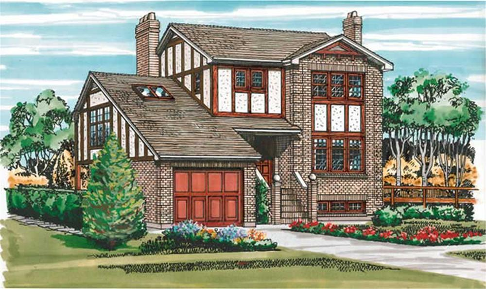 Craftsman home (ThePlanCollection: Plan #167-1208)