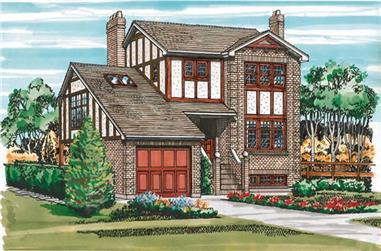 3-Bedroom, 1473 Sq Ft Craftsman House Plan - 167-1208 - Front Exterior