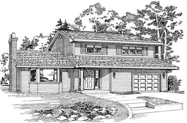 3-Bedroom, 1534 Sq Ft Small House Plans - 167-1209 - Front Exterior