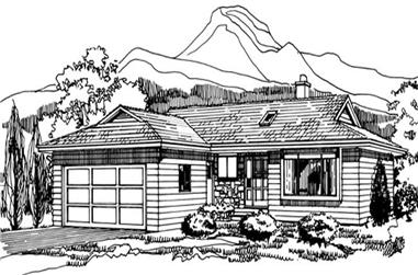 3-Bedroom, 1289 Sq Ft Small House Plans - 167-1210 - Front Exterior