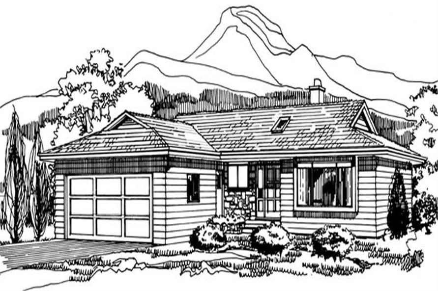 Main image for house plan # 7329