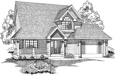 3-Bedroom, 2001 Sq Ft Country Home Plan - 167-1211 - Main Exterior