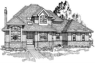 4-Bedroom, 3407 Sq Ft Contemporary Home Plan - 167-1212 - Main Exterior