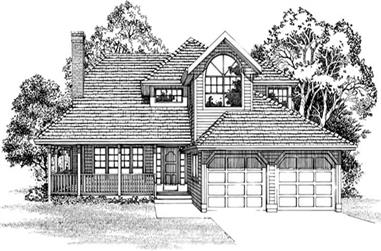 3-Bedroom, 1804 Sq Ft Country Home Plan - 167-1213 - Main Exterior
