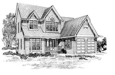 3-Bedroom, 1858 Sq Ft Traditional Home Plan - 167-1215 - Main Exterior