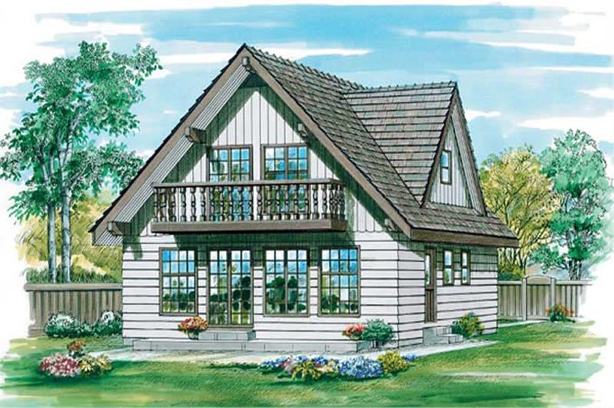3-Bedroom, 1605 Sq Ft Vacation Homes House Plan - 167-1217 - Front Exterior