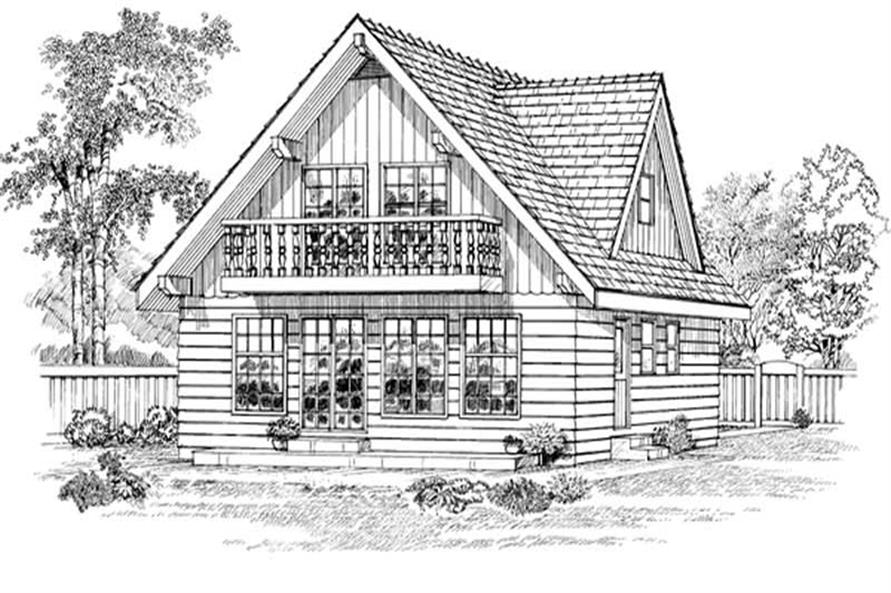 Home Plan Rear Elevation of this 3-Bedroom,1605 Sq Ft Plan -167-1217
