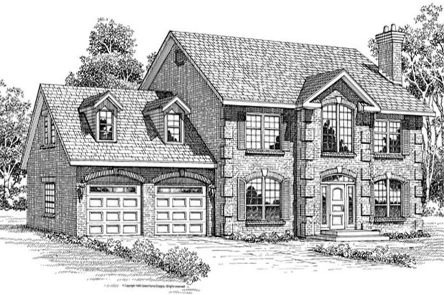 3-Bedroom, 2495 Sq Ft Traditional House Plan - 167-1219 - Front Exterior
