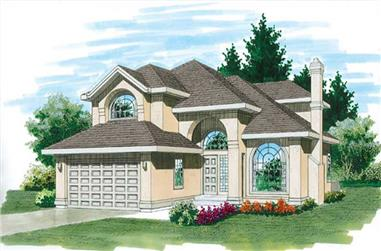 4-Bedroom, 2539 Sq Ft Contemporary Home Plan - 167-1221 - Main Exterior