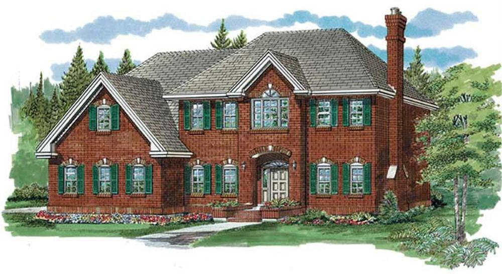Front elevation of Traditional home (ThePlanCollection: House Plan #167-1223)