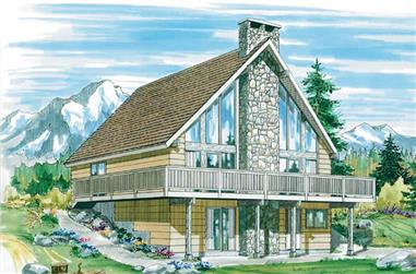 2-Bedroom, 1197 Sq Ft A Frame Home Plan - 167-1226 - Main Exterior