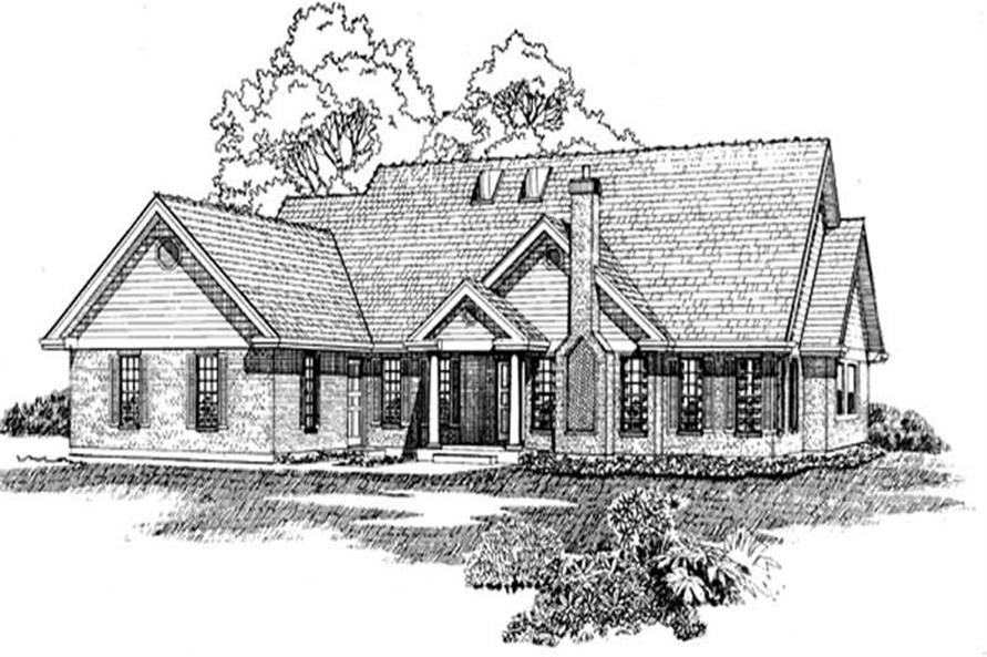 3-Bedroom, 2404 Sq Ft Ranch House Plan - 167-1227 - Front Exterior