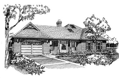 3-Bedroom, 1746 Sq Ft Ranch House Plan - 167-1229 - Front Exterior