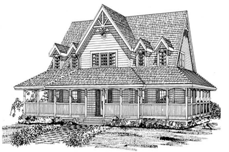 3-Bedroom, 2262 Sq Ft Country House Plan - 167-1230 - Front Exterior