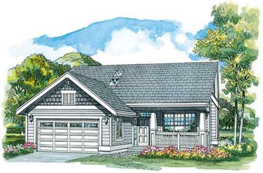 3-Bedroom, 1260 Sq Ft Country Home Plan - 167-1232 - Main Exterior