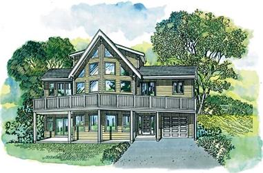 3-Bedroom, 1692 Sq Ft Contemporary Home Plan - 167-1233 - Main Exterior