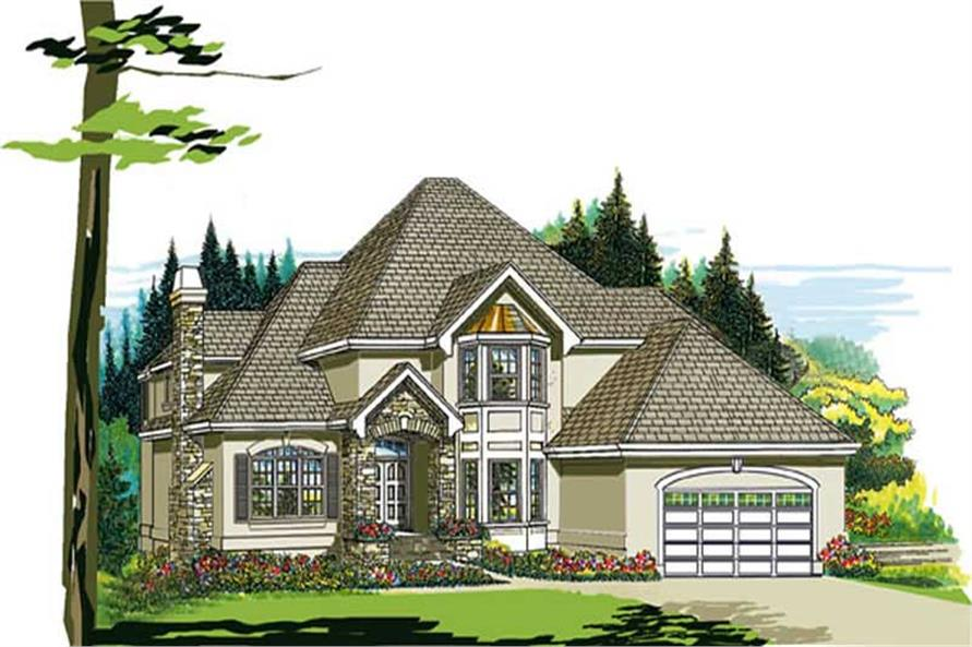 4-Bedroom, 2851 Sq Ft European Home Plan - 167-1234 - Main Exterior