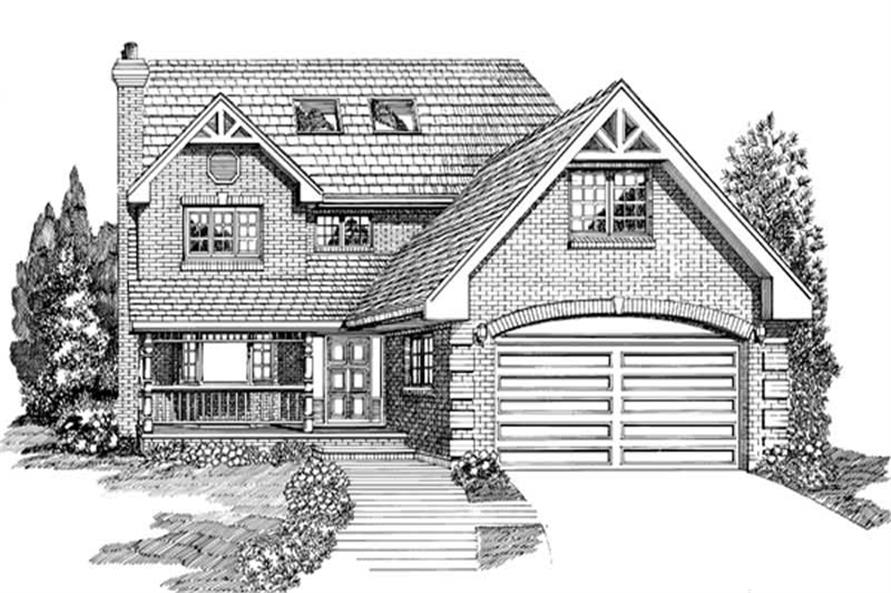 5-Bedroom, 2338 Sq Ft Country House Plan - 167-1238 - Front Exterior