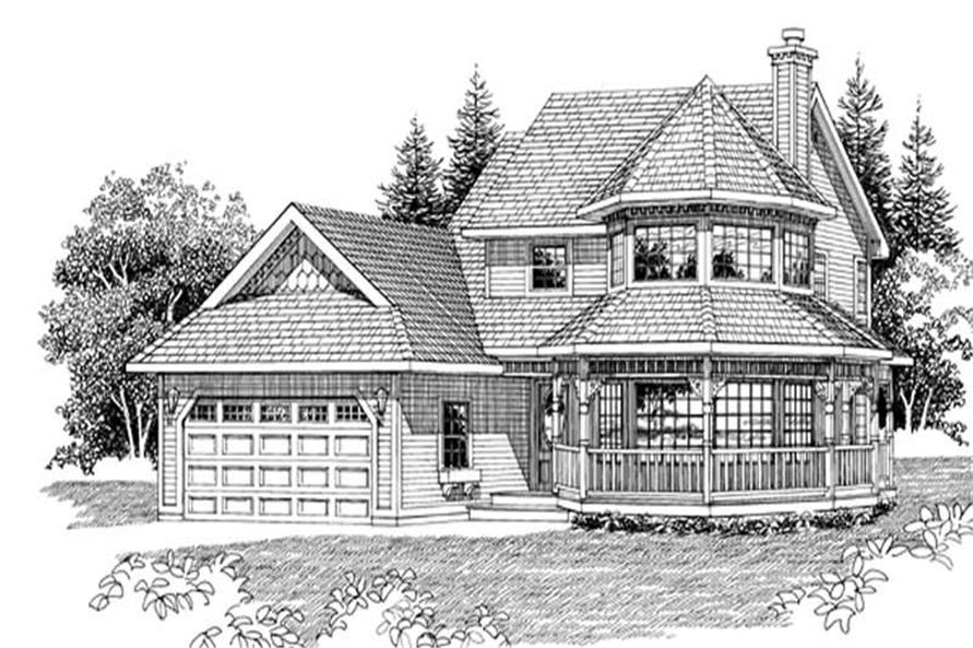 3-Bedroom, 2043 Sq Ft Country Home Plan - 167-1240 - Main Exterior