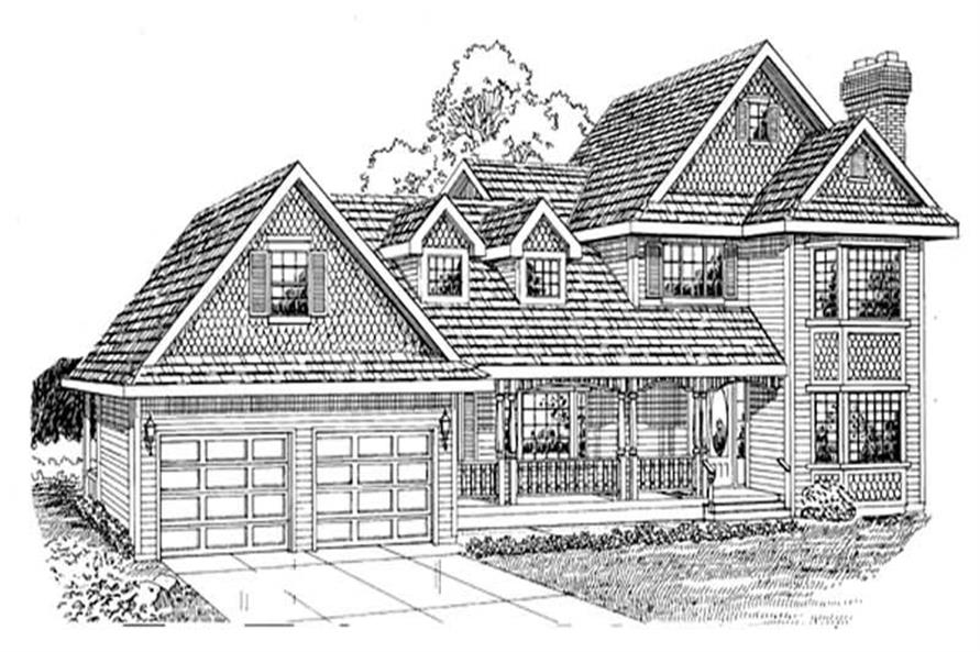 3-Bedroom, 2030 Sq Ft Country Home Plan - 167-1241 - Main Exterior