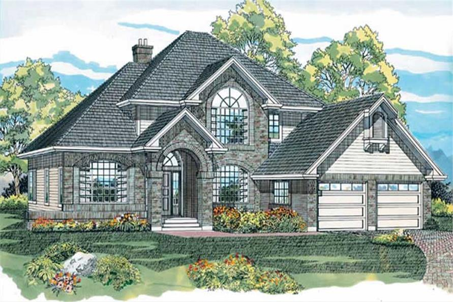 4-Bedroom, 2097 Sq Ft Contemporary Home Plan - 167-1243 - Main Exterior
