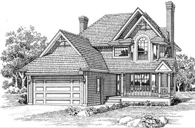 3-Bedroom, 1938 Sq Ft Country Home Plan - 167-1245 - Main Exterior