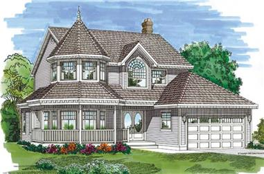 4-Bedroom, 2301 Sq Ft Country House Plan - 167-1248 - Front Exterior