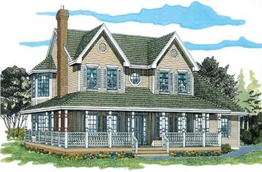 4-Bedroom, 2381 Sq Ft Country House Plan - 167-1249 - Front Exterior