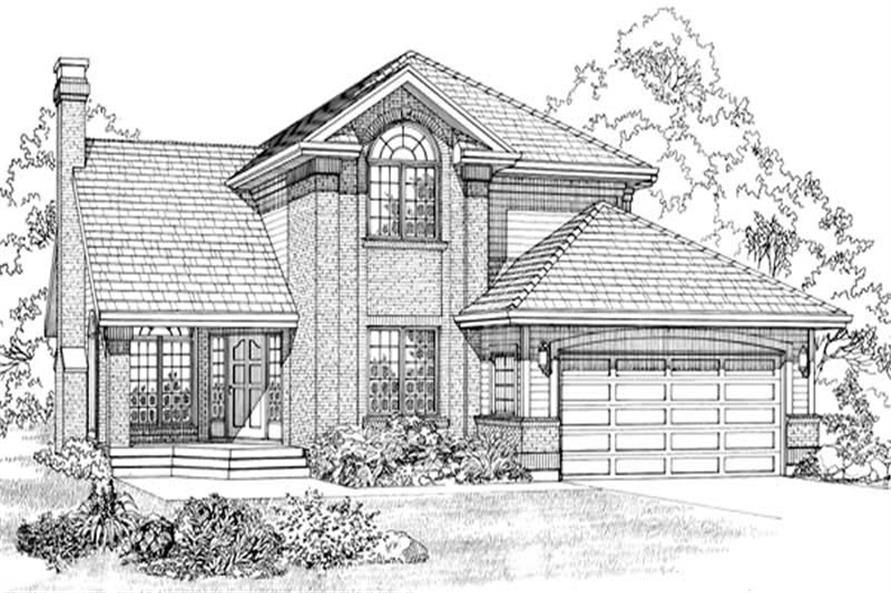 3-Bedroom, 2708 Sq Ft Contemporary House Plan - 167-1250 - Front Exterior